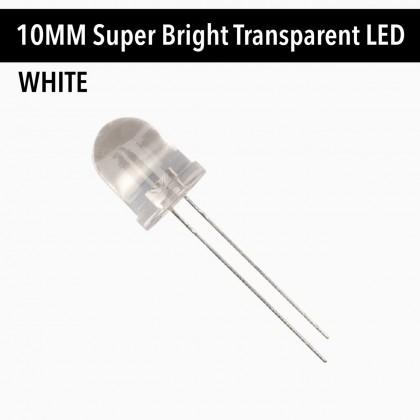 10 MM Super Bright Transparent LED White