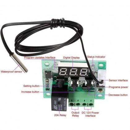 XH-W1209 Digital Thermostat Temperature Controller Switch Module with 7 SEGMENT DISPLAY & NTC Sensor
