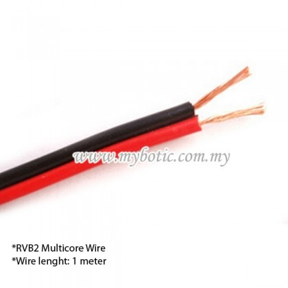 RVB2 Multicore Wire AWG 20 (1 meter) Red and Black