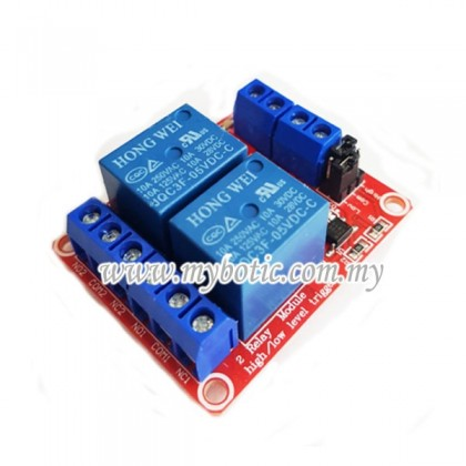 2 Channel Active H/L 5V Optocoupler Relay Module